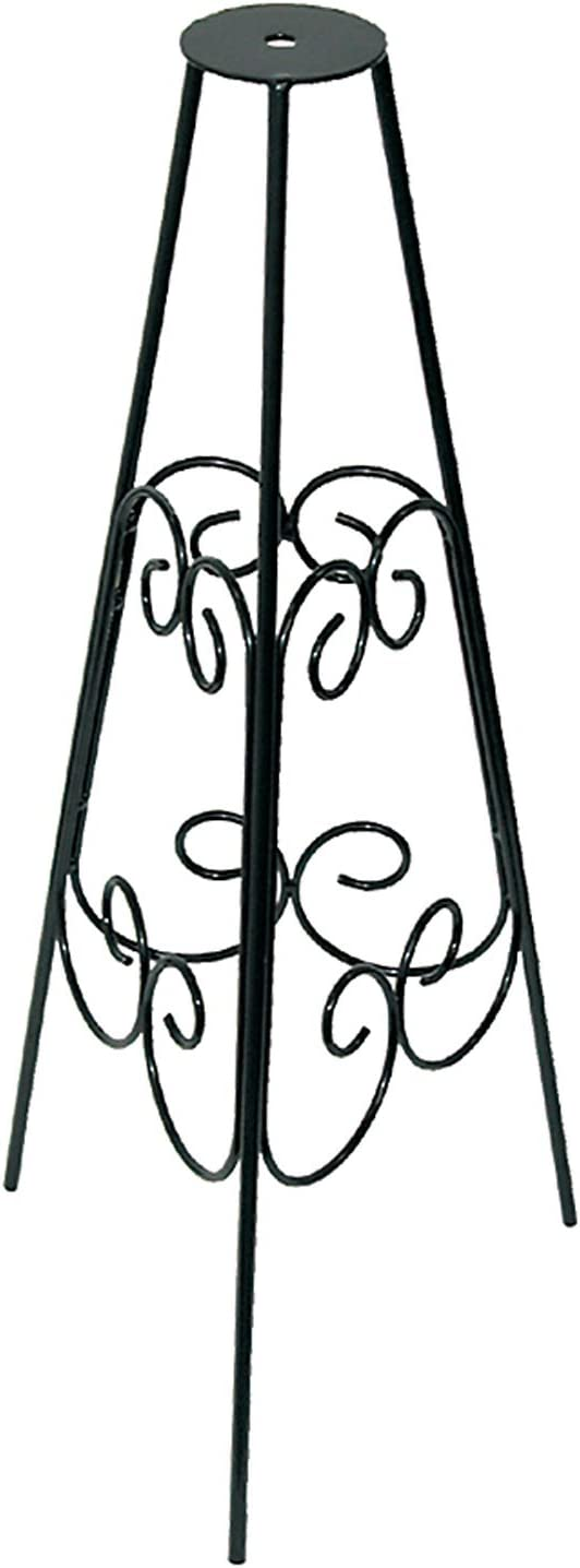 Rome B53-1 Scrolled Sundial Pedestal Bases, Powder Coated Black Wrought Iron, 24-Inch Height