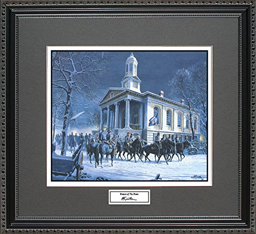 Mort Kunstler BRAVEST OF THE BRAVE Framed Wall Art Civil War Print, 18x16