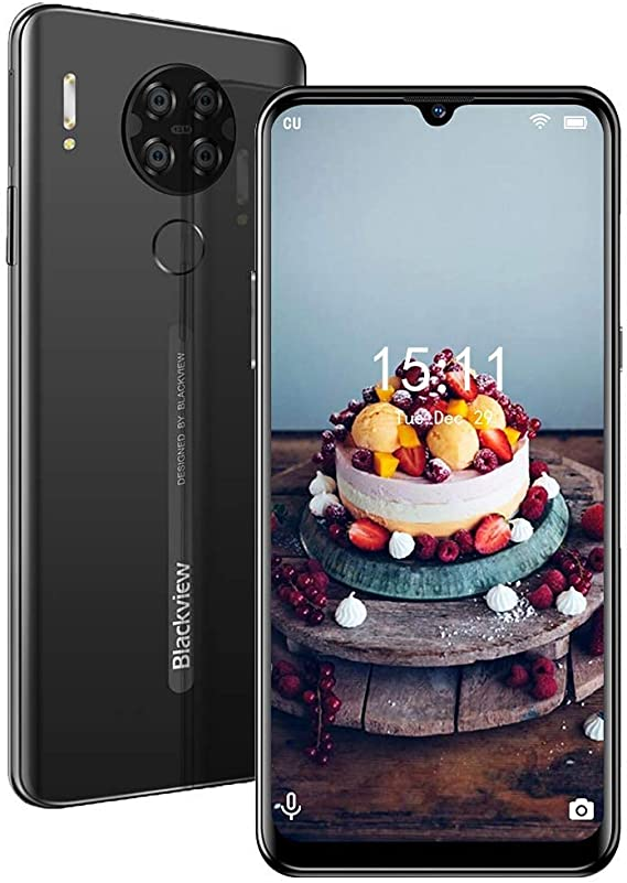 Unlocked Smartphone 3-Day-Battery Fingerprint-Detection - Android 10 2GB+16GB ROM,6.2