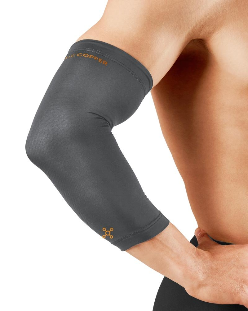 Tommie Copper Men's Recovery Vantage Elbow Sleeve, Slate Grey, Small