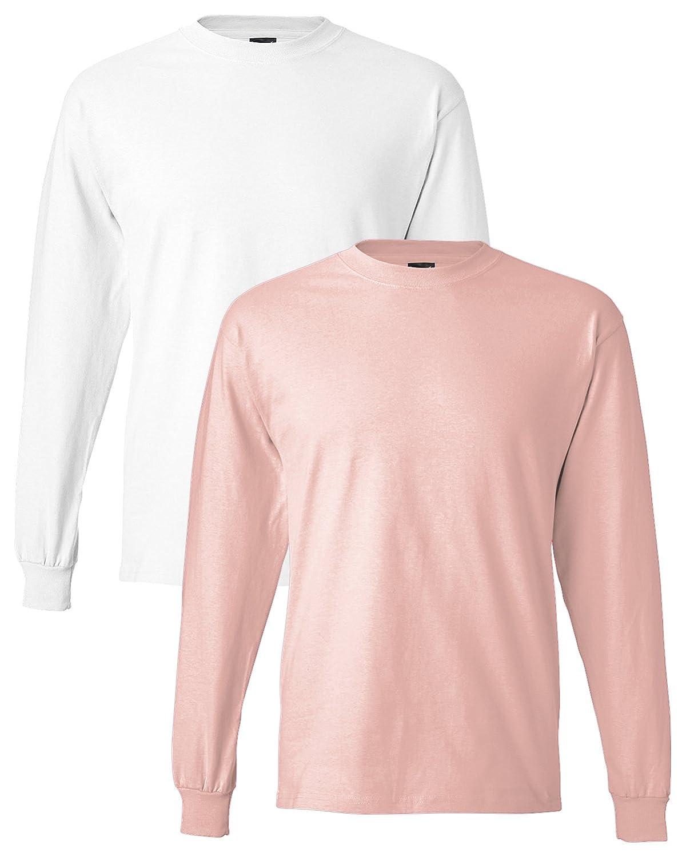 Hanes Men's Long-Sleeve Beefy-T Shirt (Pack of 2) XP86