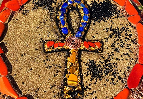 Violet Flame Orgone ~ Orgonite Ankh Charging Plate ~ EMF Protection Cleansing Plate by Violet Flame Orgone (Image #3)