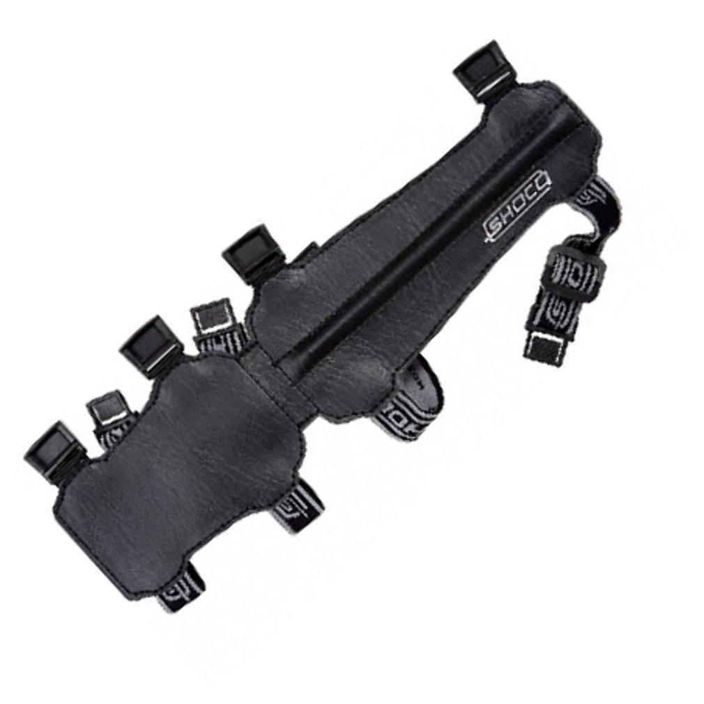 New Shocq Archery Junior Black Arm Guard PU Leather Elasticated Adjustable
