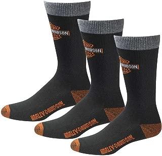 product image for Harley-Davidson Men's UltraDri 3 Pack Poly Blend Riding Socks D99202870-001