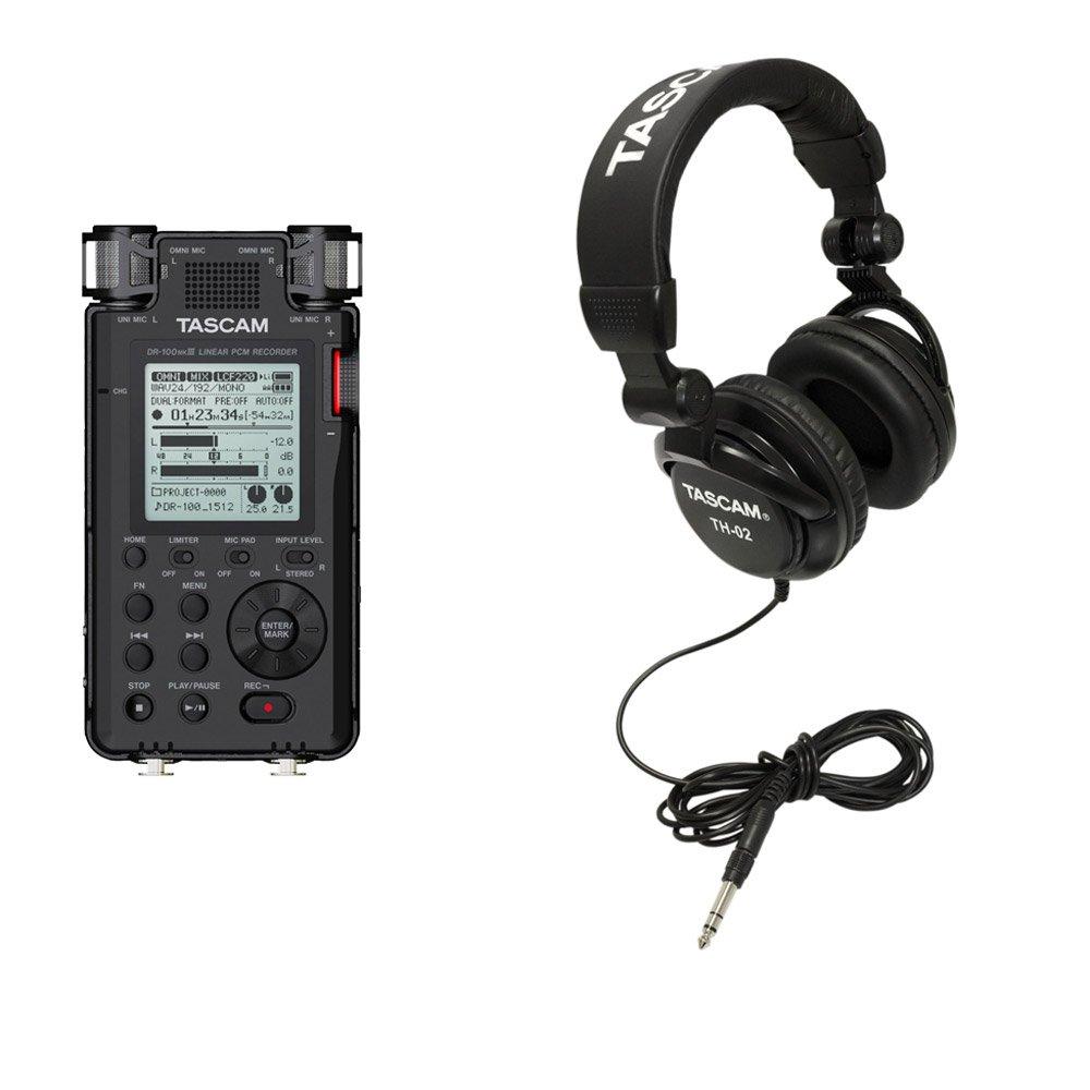 Tascam Handheld Digital Audio Recorder + SD Card + Recording Studio Headphones