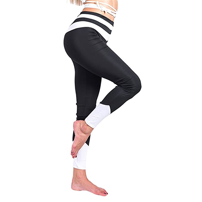 3108d2b5ed882 Mannerg Women Legging Stretchy Black Leggings Long Trousers High Waist Slim  Pants Fashion Workout Leggings,