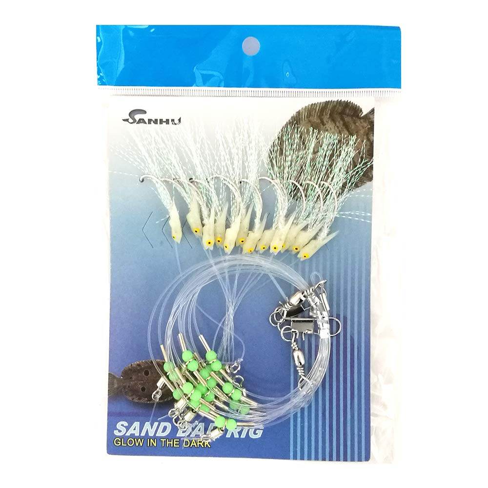 Sand Dab Rigs – # A – 12-hook – glow-in-dark – 10パックItem # 360   B00FEPS0NU
