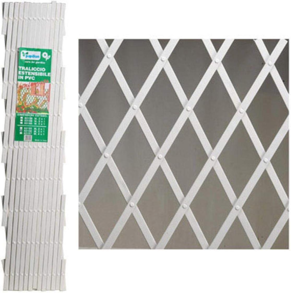 4 x 1 Blanc Treillis en plastique PVC Papillon/