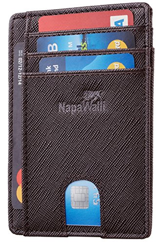 - Toughergun RFID Blocking Minimalist Genuine Leather Slim Front Pocket Wallet U (Virginia Coffee)