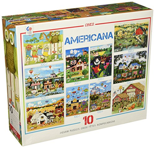 Ceaco 10-in-1 Multi Pack Americana Puzzles (900 Piece)