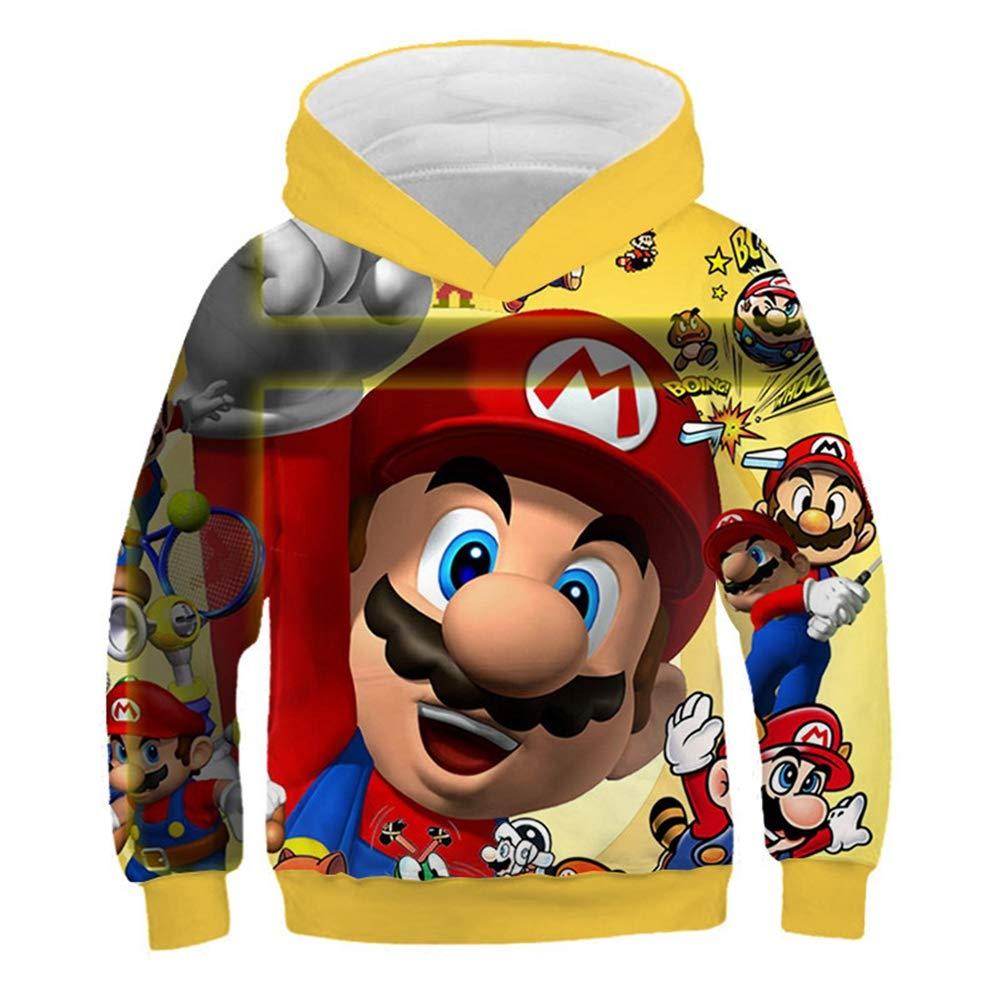 Hoodies 3D Printing Mario Boys Girls Child 100-160cm