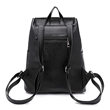 Amazon.com | Women Vintage Girl Leather School Bag Backpack Satchel Women Travel Shoulder Bag Nude | Backpacks