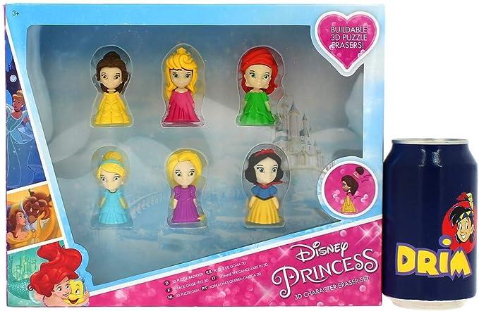 Sambro- Pack 6 Gomas Puzzle 3D Princesas Disney 26X21Cm ...
