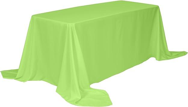 Table Cloth Hemmed 100/% Polyester Rectangular 90x 156 White