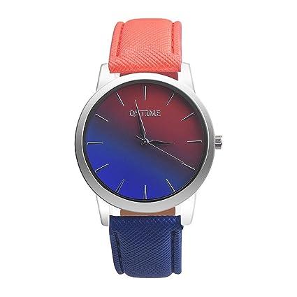 Reloj mujer ❤ Amlaiworld Moda Relojes niña Reloj de pulsera retro para mujer con arcoíris