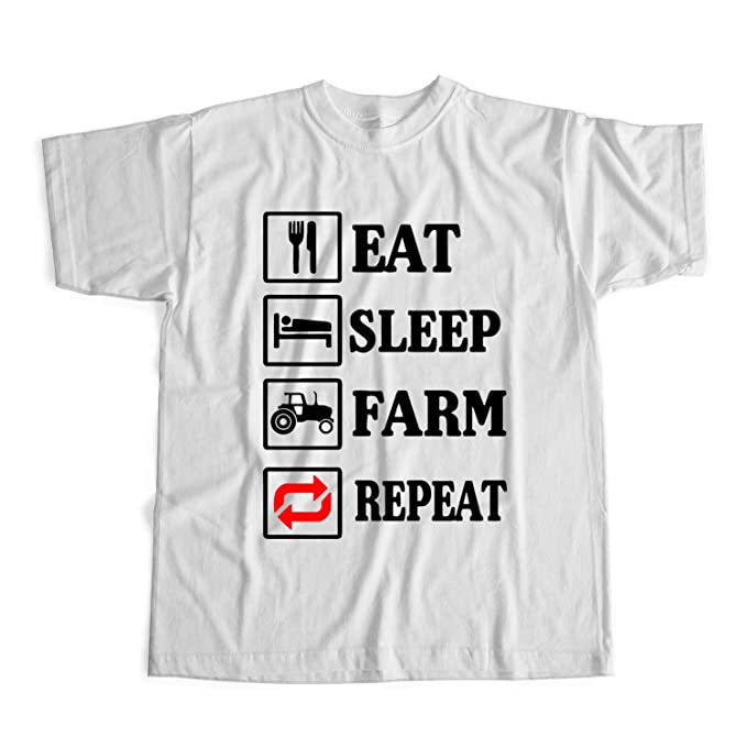UnisexAmazon Sleep King Repeat Farm Maglietta it Shirt Eat CoedxrB