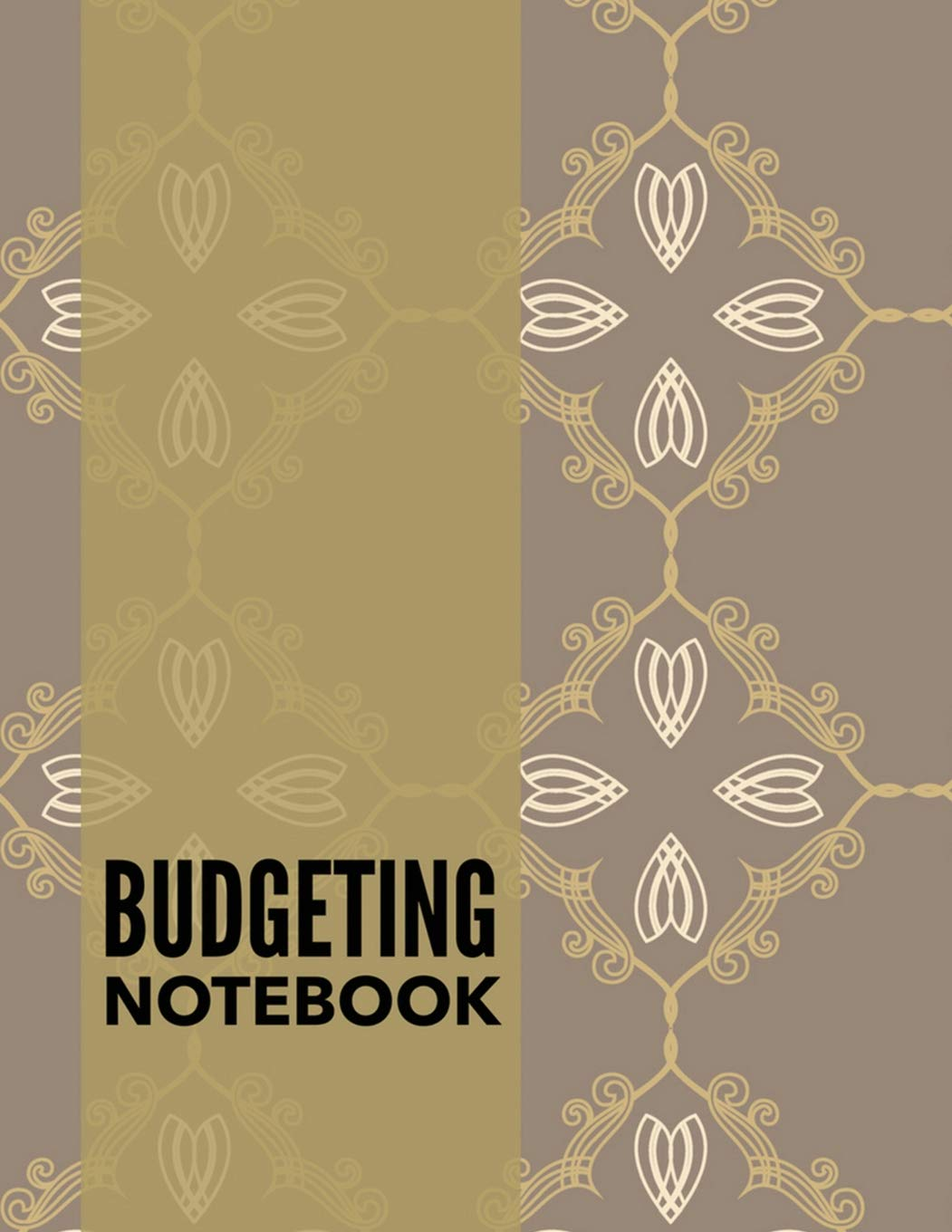 budgeting notebook vintage design personal money management with