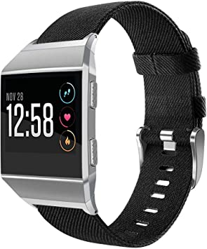 OenFoto Sport Bands Compatible Fitbit Ionic, Adjustable Nylon Wristband Replacement Watch Band Strap Accessory Bracelet for Fitbit Ionic Smart Watch, ...
