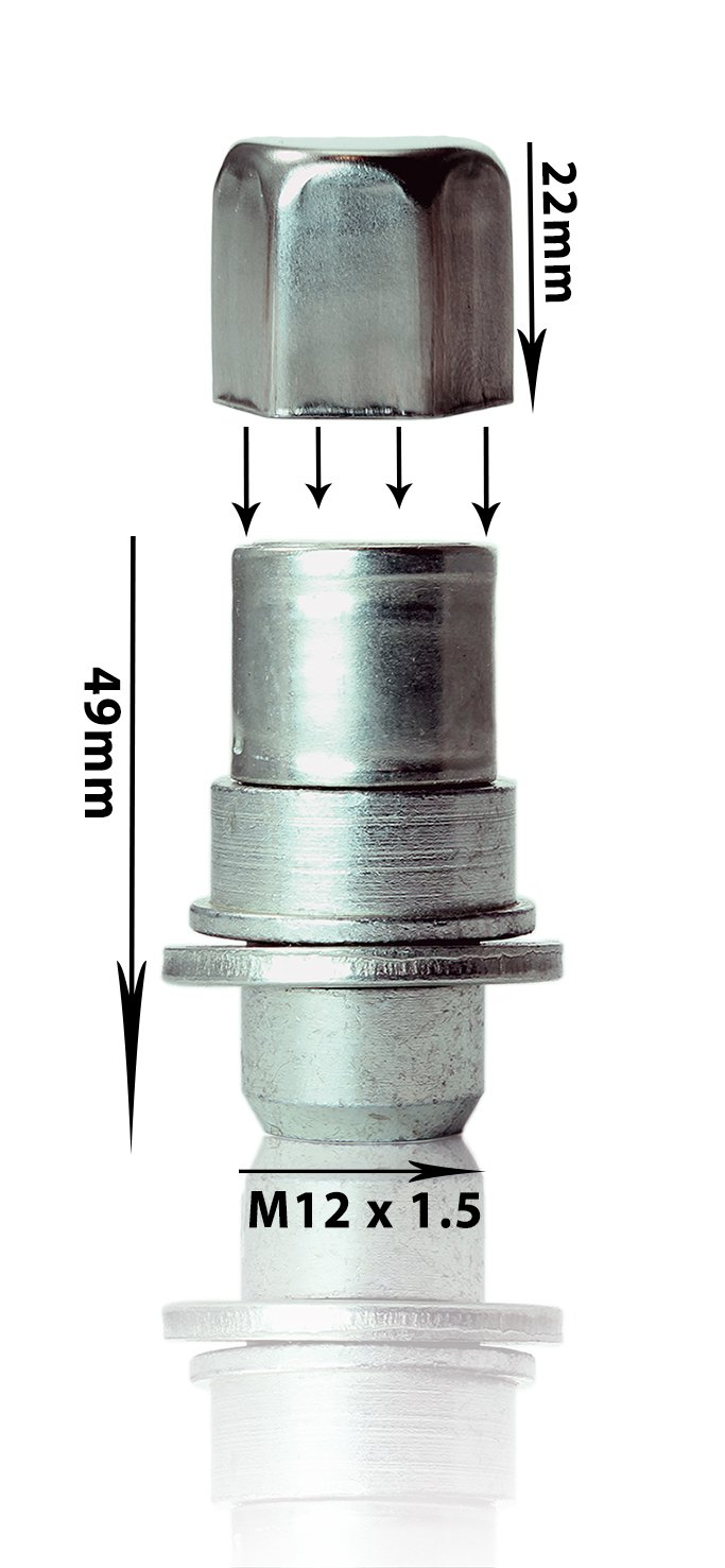 Wheel locking nuts M12x1,5 anti-theft for alloys 482 LEXRX
