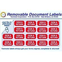 Removable Document Labels - SIGN & RETURN