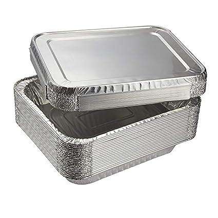 Amaoma 30 Piezas Desechables Papel de Aluminio para Horno,Caja Desechable de Papel Aluminio con