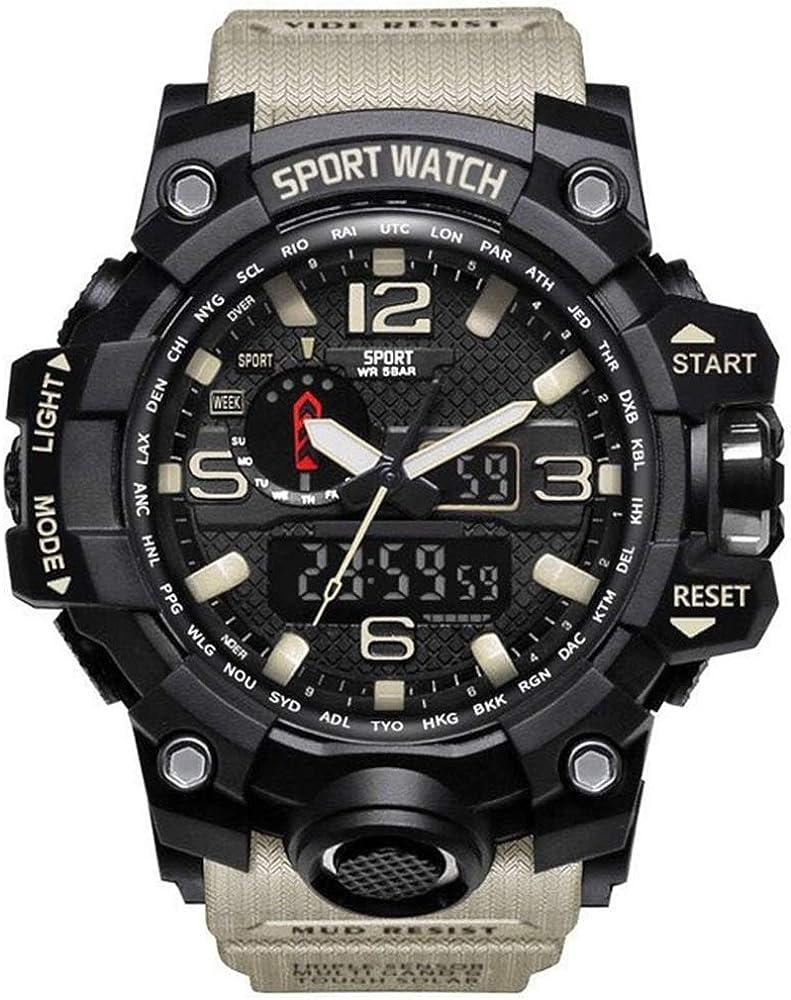 Étanche Hommes Sport Montres De Luxe Marque De Mode Militaire Numérique Montre LED Électronique Horloge Hommes Masculino Reloj Hombre Bianco