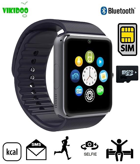 GT08 - SmartWatch con tarjeta SIM propia, teléfono móvil, Bluetooth, micro SD