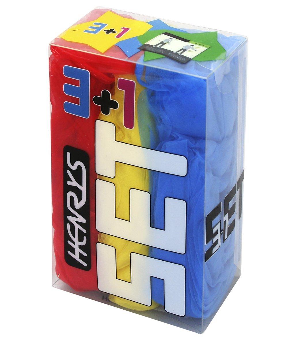 Henrys Jongliertü cher 3er Set, rot-gelb-blau