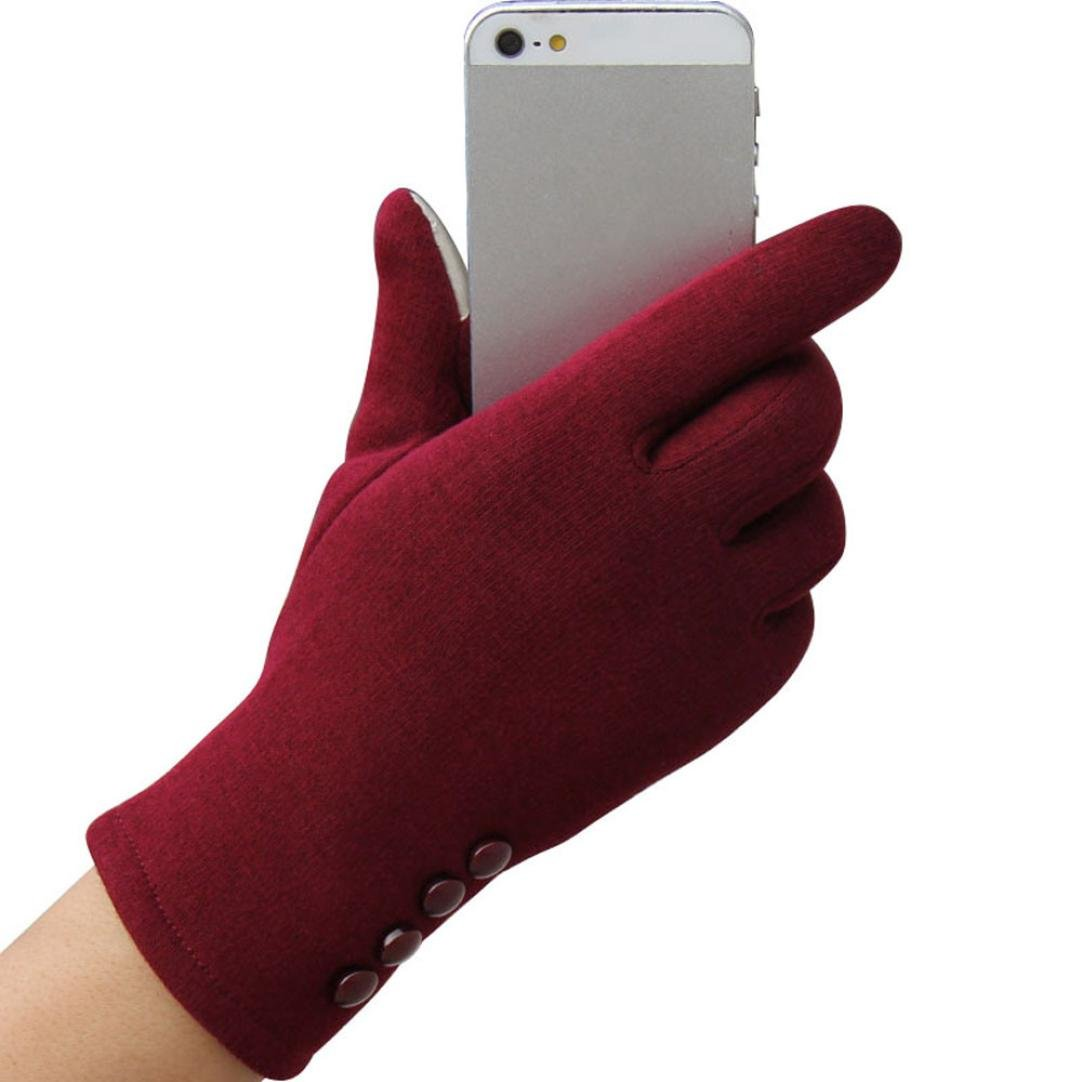 Lavany Fashion Women's Girls Touch Screen Warm Winter Outdoor Sport Gloves Mittens
