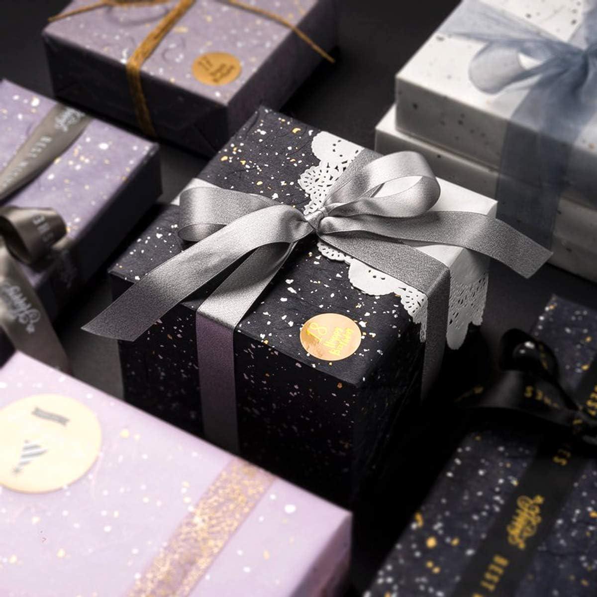 Liwein Geschenkpapier Geburtstag Geschenkpapierrolle Schwarz Geschenkpapierb/ögen Geschenkverpackung+Schleifenband für Muttertag Valentinstag Hochzeit Kinder Weihnachten-10 Bogen-60 x 60cm