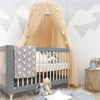 Kid Baby Bed Canopy Bedcover Mosquito Crib Netting Curtain Bedding Round Dome Tent Cotton Mother & Kids