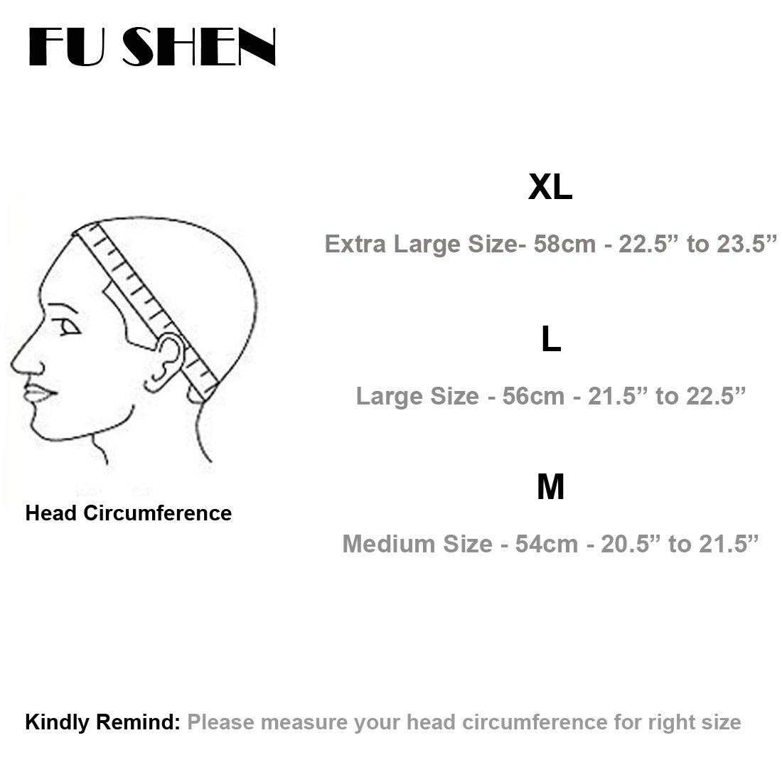 Elastic Wig Caps For Making Wigs Stretch Lace Weaving Cap Extra Large For Big Head with Adjustable Straps and Combs (Black 1 Piece XL-23Inch) by FU SHEN (Image #7)