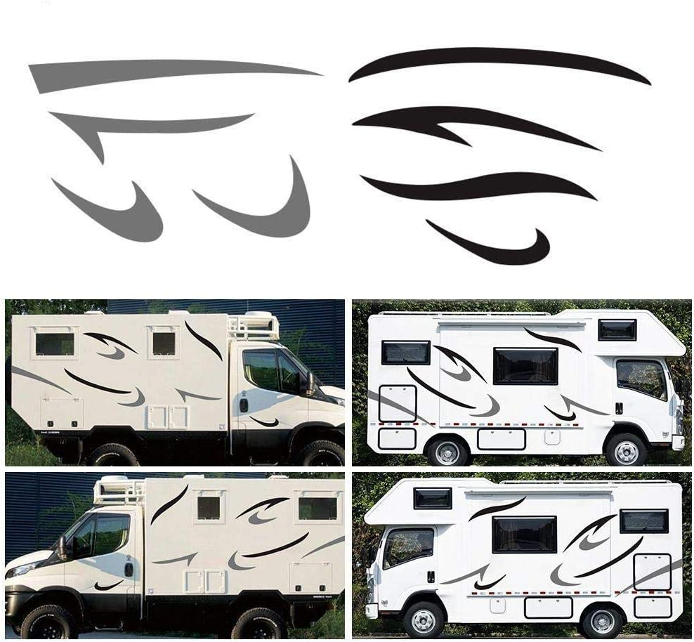 2x BOAT NAMES STICKERS GRAPHICS DECALS CHOICE OF COLOURS CARAVAN//MOTORHOME 400mm