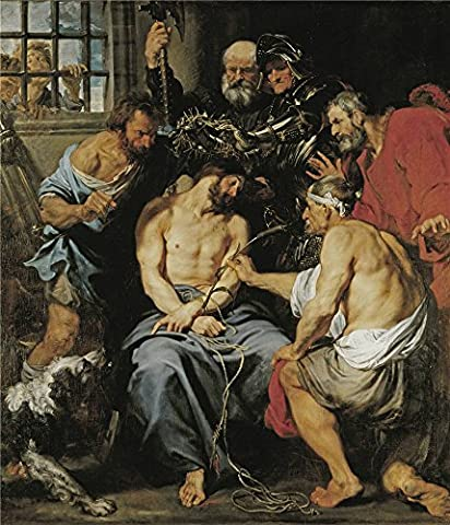 Oil Painting 'Dyck Anton Van The Crown Of Thorns 1618 20 ' Printing On Perfect Effect Canvas , 30 X 35 Inch / 76 X 89 Cm ,the Best Bedroom Decoration And Home Decoration And Gifts Is This Imitations Art DecorativeCanvas - Crown Slider Charm