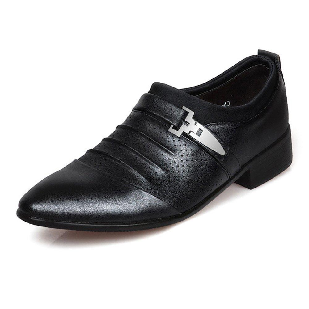 MXL Herren Spitz Business Schuhe Glatte PU-Leder Splice Vamp Slip-On Atmungsaktiv Perforation Oxfords Driving Schuhe  | Ausgezeichnete Leistung