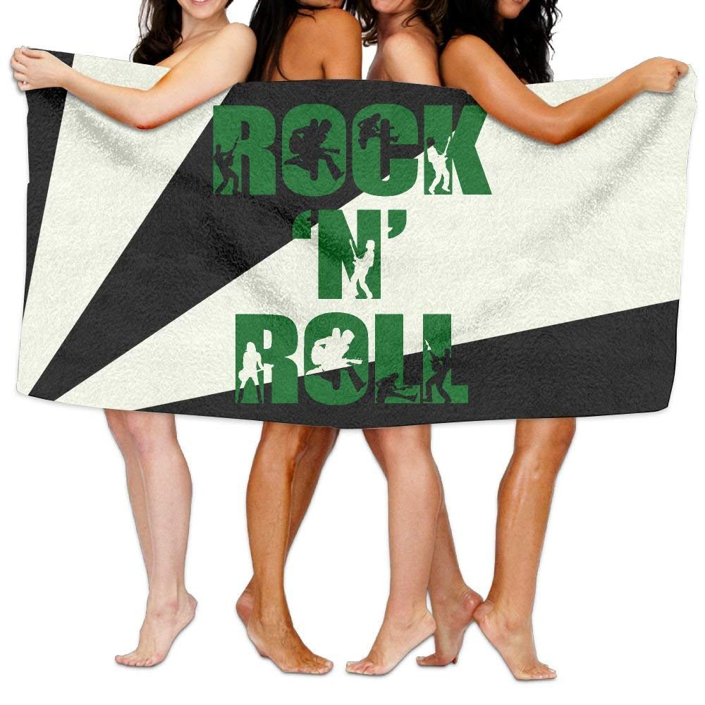 HONGYUDE Rock N Roll Dance 100% Polyester Velvet Absorbent Towels 31 X 51 inches