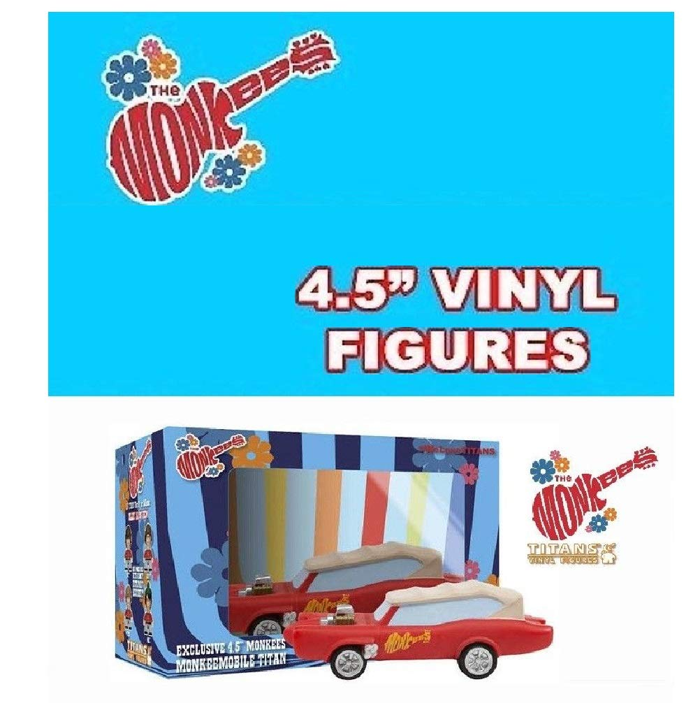 The Monkees Monkeemobile 4 1//2-Inch Titans Vinyl Figure