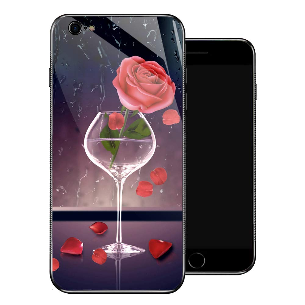 Amazon.com: Carcasa para iPhone 6 Plus, diseño de rosas ...