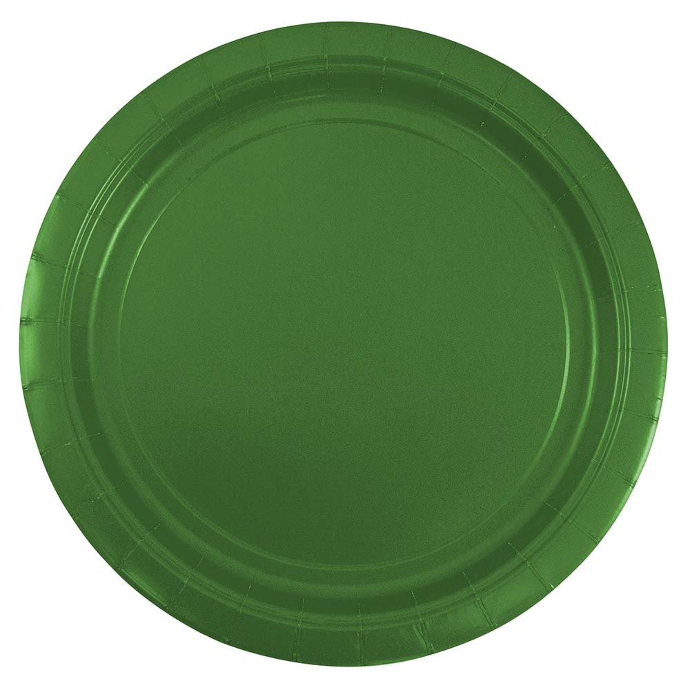JAM Paper Round Paper Party Plates - Medium - 9'' - Green - 50/pack