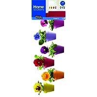 Draeger la carterie Sticker Fenêtre Fleurs pensées Multicolores