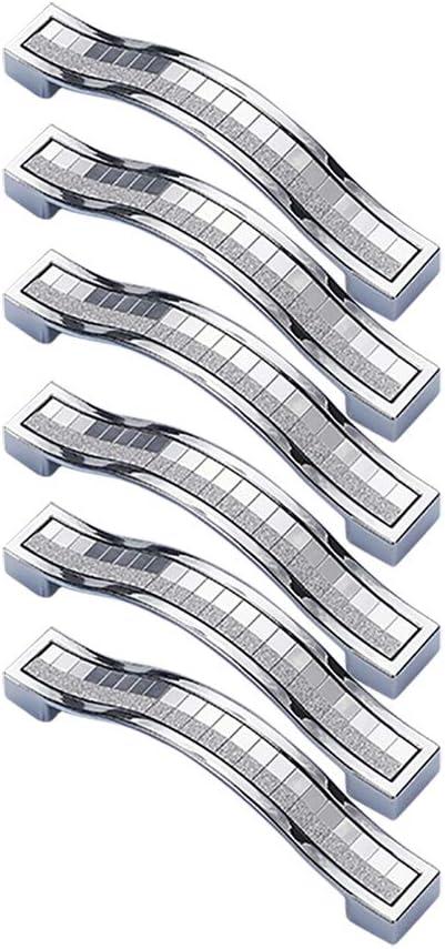 DaoRier 6pcs Moderne Einfachheit M/öbelgriff Relinggriffe T/ürkn/öpfe K/üchengriff Schublade Kleiderschrank Stangengriff Size 96mm Bohrlochabst Gold