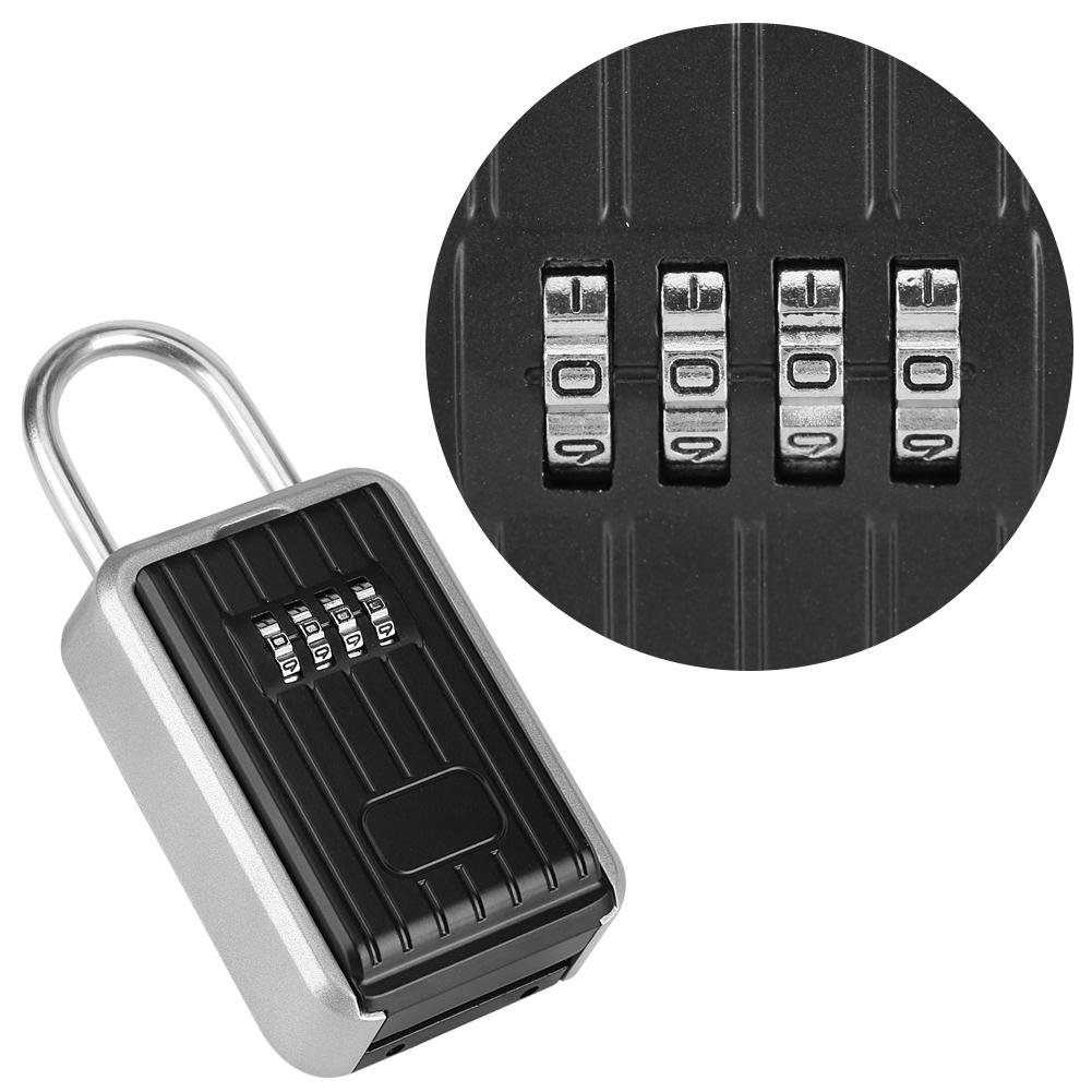 Wosume Key Lock Box, 4-Digit Safe Security Outdoor Storage Key Box Holder Door Hanging Combination Lock
