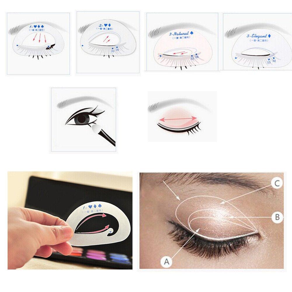 Sussmai Beauty Smokey Shaper Makeup Tool Eye Shadow Template Eyeliner Stencil Model Beauty Tools Eye Shadow Card
