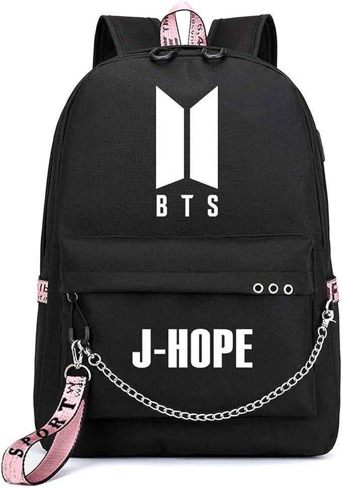 K-pop Bangtan Boys BTS Canvas Backpack JUNG KOOK JIMIN JIN SUGA RM Schoolbag