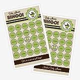 3 sets of 16 Green Baby Shower Bingo