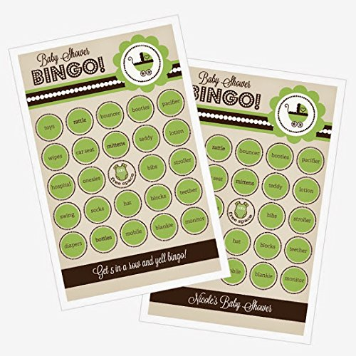 3 sets of 16 Green Baby Shower Bingo
