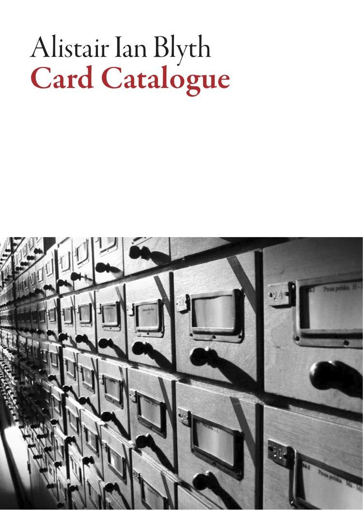 Slikovni rezultat za Alistair Ian Blyth, Card Catalogue, complete review