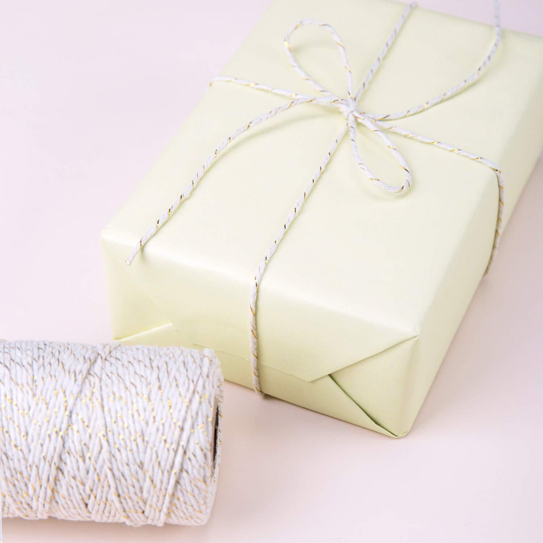 Ficelle De Jardin pour Emballage De Cadeaux RUSPEPA 100M Ficelle De Boulangerie Rouge