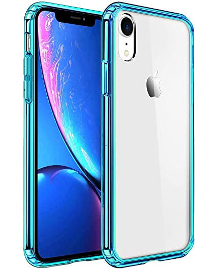 new concept 83d6f 04c9b Mkeke Compatible with iPhone XR Case,Clear Anti-Scratch Shock Absorption  Cover Case for iPhone XR Green