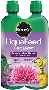 Miracle-Gro 100404 LiquaFeed Bloom Booster Flower Food, 4-Pack (Liquid Plant Fertilizer Specially Formulated for Flowers)